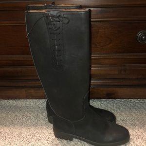 ☔️ Salvatore Ferragamo Black Matte Rain Boots 37